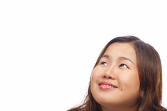 Asian girl isolated on white background. With clipping path Stock Image