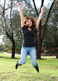 asian girl jump Στοκ Εικόνες