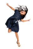 Asian Girl Jumping Stock Image
