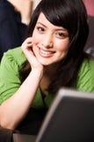 asian girl laptop relaxing Στοκ φωτογραφία με δικαίωμα ελεύθερης χρήσης