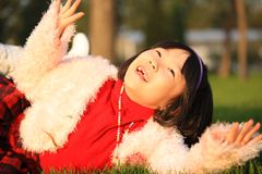 Asian girl laughing Stock Images