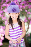 Asian girl laughing and having fun outdoors Royalty Free Stock Photos