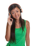 Asian girl likes music Stock Image