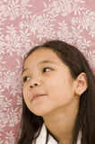 Asian Girl Looking Away Stock Photo