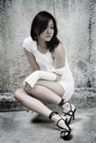 Asian girl looking at viewer Royalty Free Stock Photo