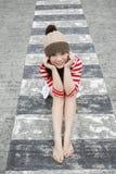 Asian girl looking at viewer Royalty Free Stock Image