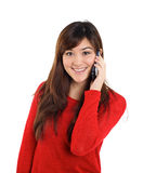 Asian girl with mobile phone Royalty Free Stock Photography