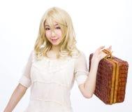 Asian girl model fashion japanese style isolated. Is asian girl model fashion japanese style isolated Royalty Free Stock Images