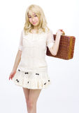 Asian girl model fashion japanese style isolated. Is asian girl model fashion japanese style isolated Stock Images