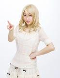 Asian girl model fashion japanese style isolated. Is asian girl model fashion japanese style isolated Royalty Free Stock Photo