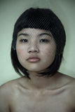 Asian girl with netting Stock Image