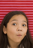 Asian Girl With Ohhh Expression Stock Images