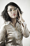 Asian Girl with Old Glasses 9 Stock Photography