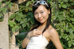 Asian girl outdoors Stock Photography