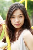 Asian girl outdoors. Stock Photography