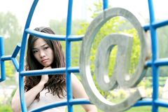 Asian girl outdoors. Stock Image