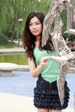 Asian girl outdoors. Stock Photos
