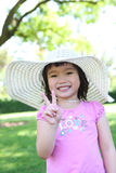Asian Girl in Park Royalty Free Stock Photography