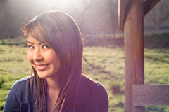 Asian girl in the park Royalty Free Stock Photography