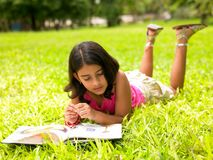 Asian girl in a park Stock Image