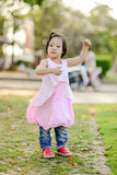 Asian girl in the park outdoor. Royalty Free Stock Image