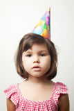 Asian girl in a Party Hat Royalty Free Stock Photography