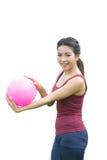 ASian Girl and pink ball Royalty Free Stock Photos