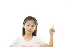Asian girl pointing Royalty Free Stock Image
