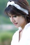 Asian girl portrait. A beautiful asian girl portrait in garden Stock Image