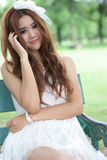 Asian girl portrait. A beautiful asian girl in park Stock Image