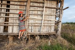 Asian girl posing Stock Images