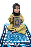 A Muslim Girl holding Quran Stock Photos