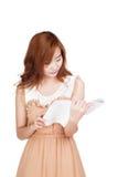 Asian girl read a book Stock Image