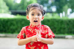 Asian girl in red dress Stock Photos