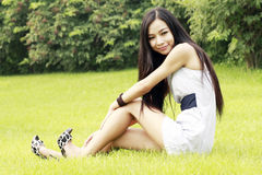 Asian girl relaxing Stock Photography