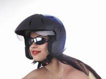 Asian girl riding a bike Royalty Free Stock Photos