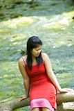 Asian girl and a river Stock Photo