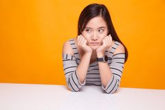 Asian girl with sad emotion. Stock Photography