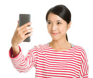 Asian girl selfie Royalty Free Stock Photo