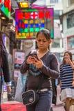 Asian girl shopping Stock Photos