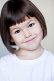 Asian girl with short hair. Portrait of Asian girl with short hair royalty free stock photo