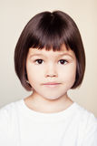 Asian girl with short hair Stock Photography