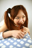 Asian girl smiling Stock Photos