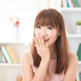 Asian girl smiling Stock Image