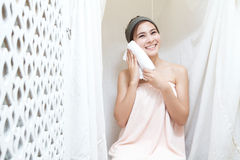 Asian girl in spa Royalty Free Stock Photos