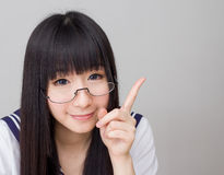 Asian girl student in school uniform Stock Photography