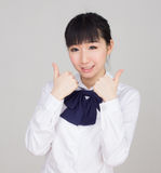 Asian girl student in school uniform Stock Images