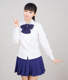 Asian girl student in school uniform Stock Image