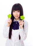 Asian girl student in school uniform Stock Photography