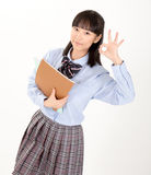 Asian girl student in school uniform. Is asian girl student in school uniform Stock Photo